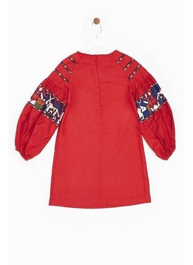 Stella Jean Kız Çocuk Kırmızı Elbise Kırmızı